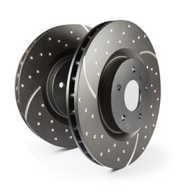 Brake discs EBC Turbo Groove. Manufacturer product no.: GD449