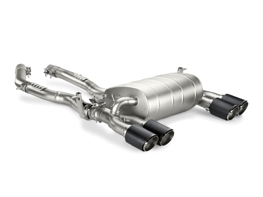 Evolution Line (Slip-on + link pipe), Titan with carbon fibre tailpipe