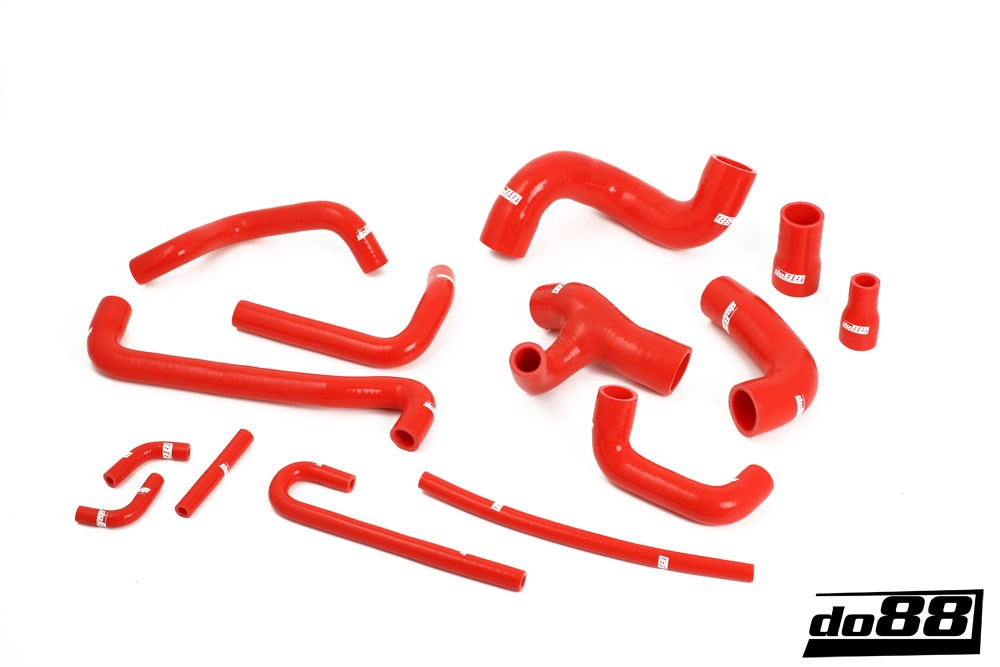 BMW M3 E30 Coolant hoses Red. Manufacturer product no.: do88-kit130R