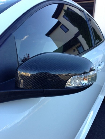 Door mirror cover, carbon