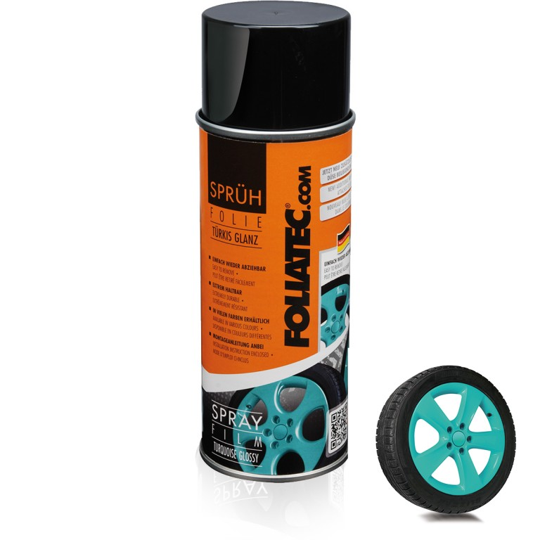 Foliatec Spray Film, turquoise glossy. Manufacturer product no.: FOLI2037