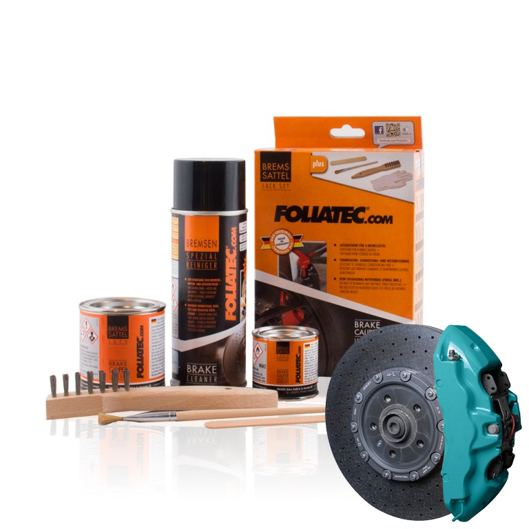 Foliatec Brake Caliper Lacquer Set, Ocean turqoise. Manufacturer product no.: 2174