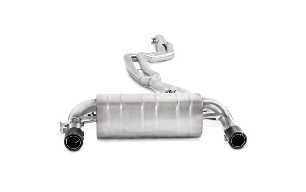 Evolution System, Stainless steel with Link pipe, carbon fibre tailpipe. Manufacturer product no.: MTP-BM/SS/2H + E-BM/SS/2
