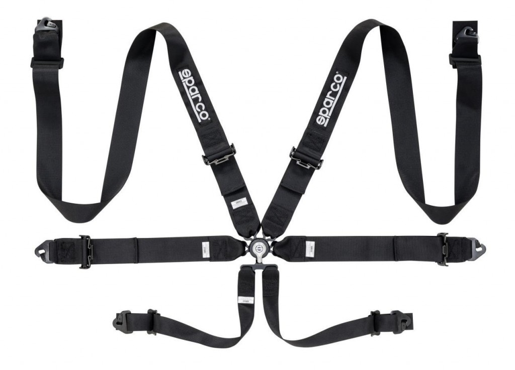 "Sparco 6 Point Harness 3"" Black"