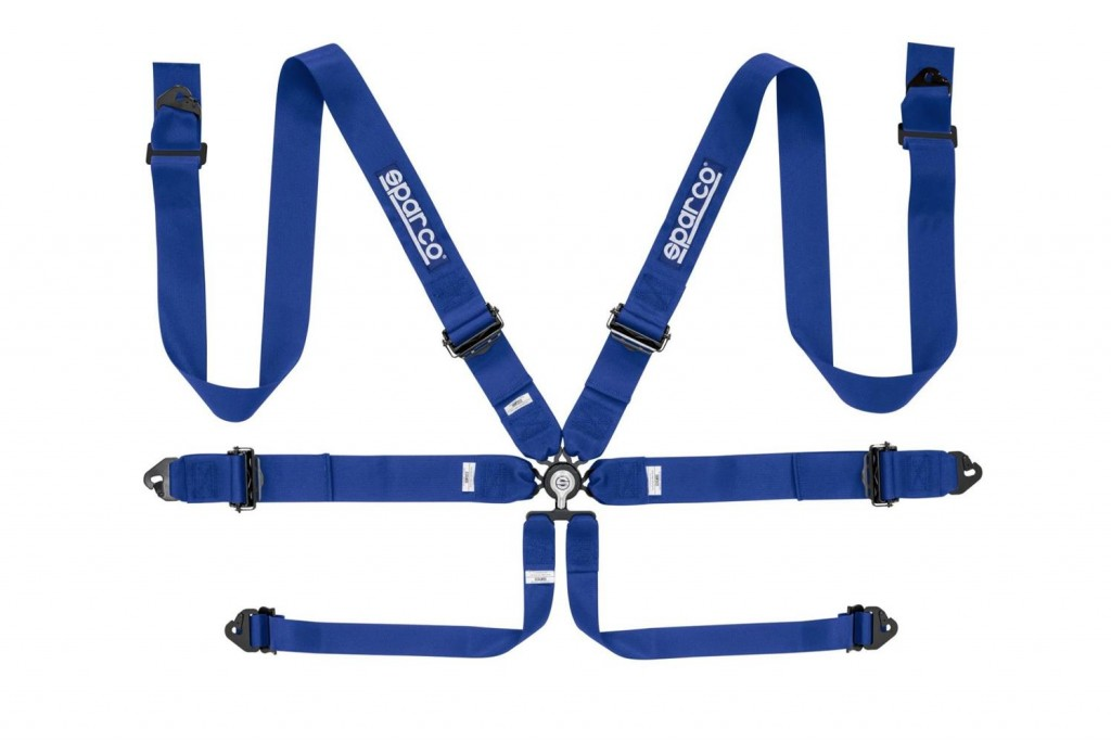 "Sparco 6 Point Harness 3"" Alu Blue"