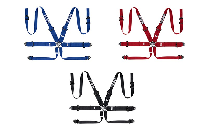 "Sparco 6 Point Harness 3""/2"" Alu"