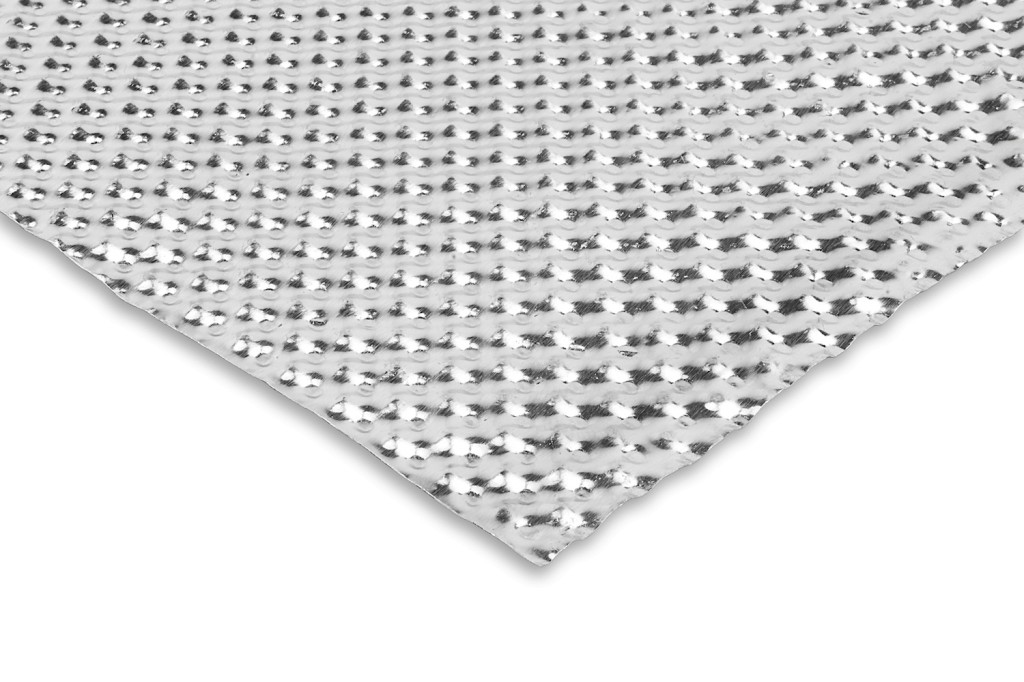 Aluminium Barrier Heat shield sheeting - 30cm X 30cm. Manufacturer product no.: FUNK-BARSHT-3030