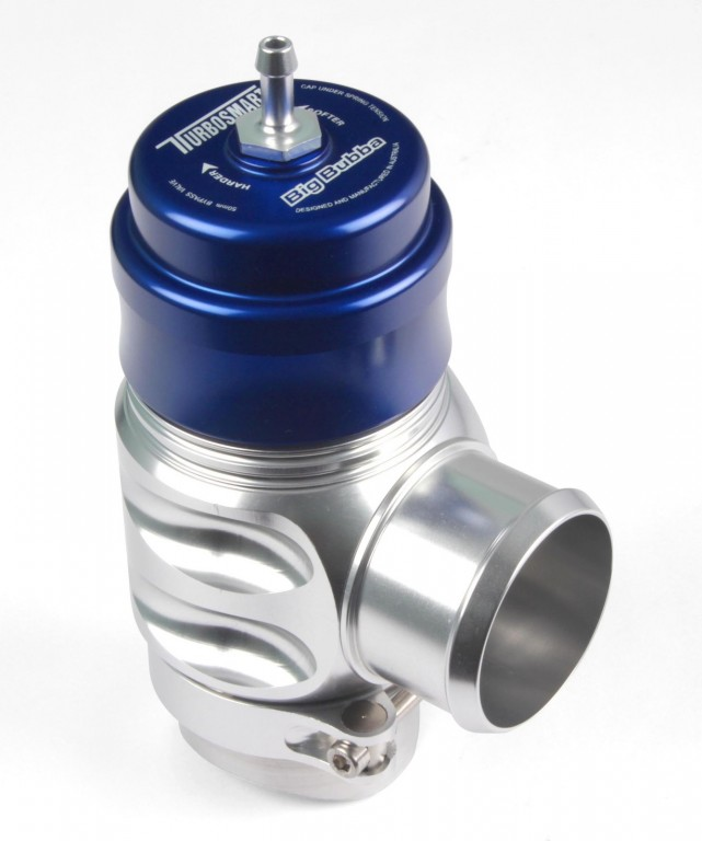 Blow-Off Valve Big Bubba Plumb Back - Blue/Silver. Manufacturer product no.: TS-0204-1201