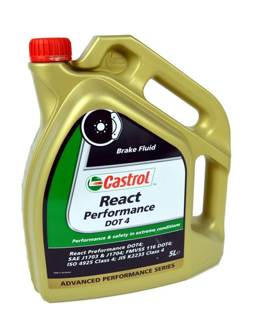 Castrol React Performance DOT 4 5L. Manufacturer product no.: 15038A