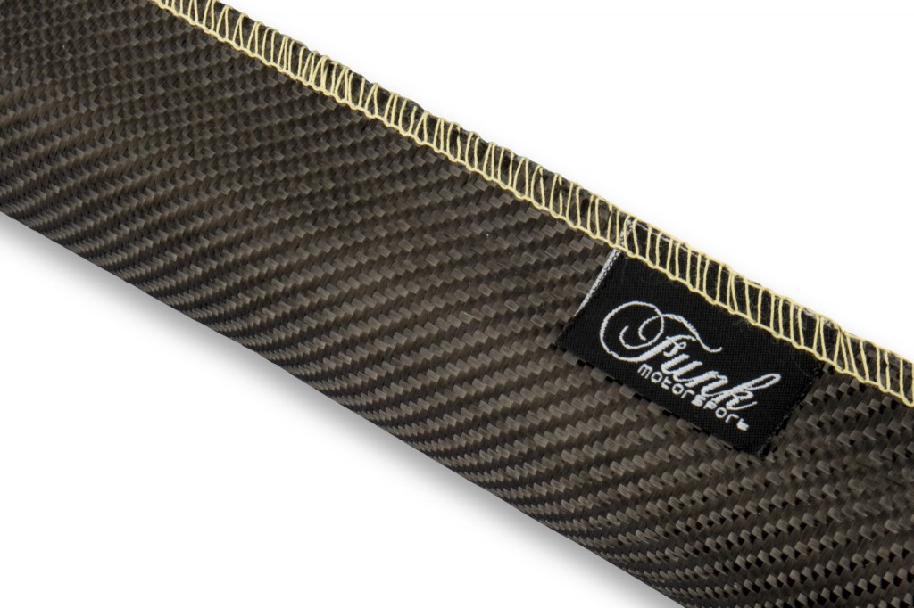 Carbon Fibre Sleeving (Sewn). Manufacturer product no.: FUNK-CFSWN-