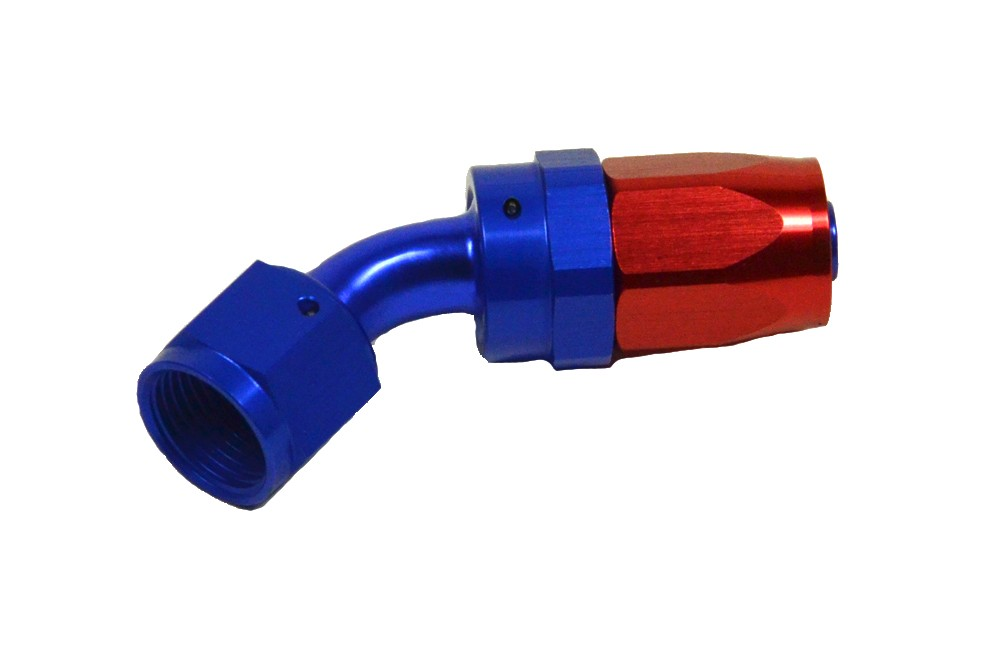 AN Hose Fitting 45°. Manufacturer product no.: Slangkoppling 45°