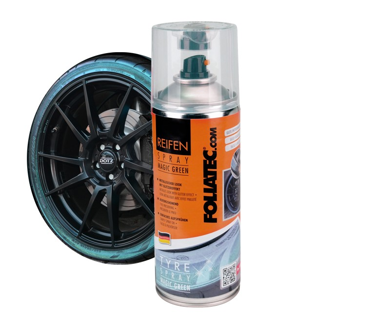 Foliatec Tyre Spray Magic Green. Manufacturer product no.: 2700